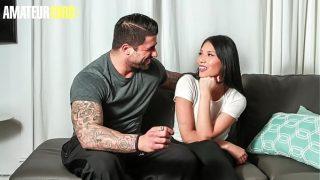 Jennifer & Ryan Bones – Sexy Shy Asian Fucks On Casting With A Gym Trainer